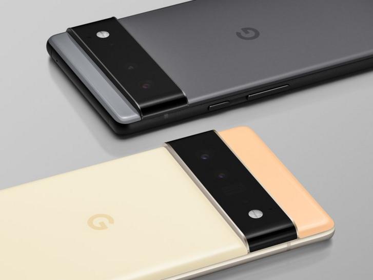 A kisebb Pixel 6 és a nagyobb 6 Pro egymás mellett