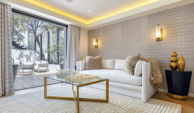 A ház legelegánsabb része talán ez a nappali.