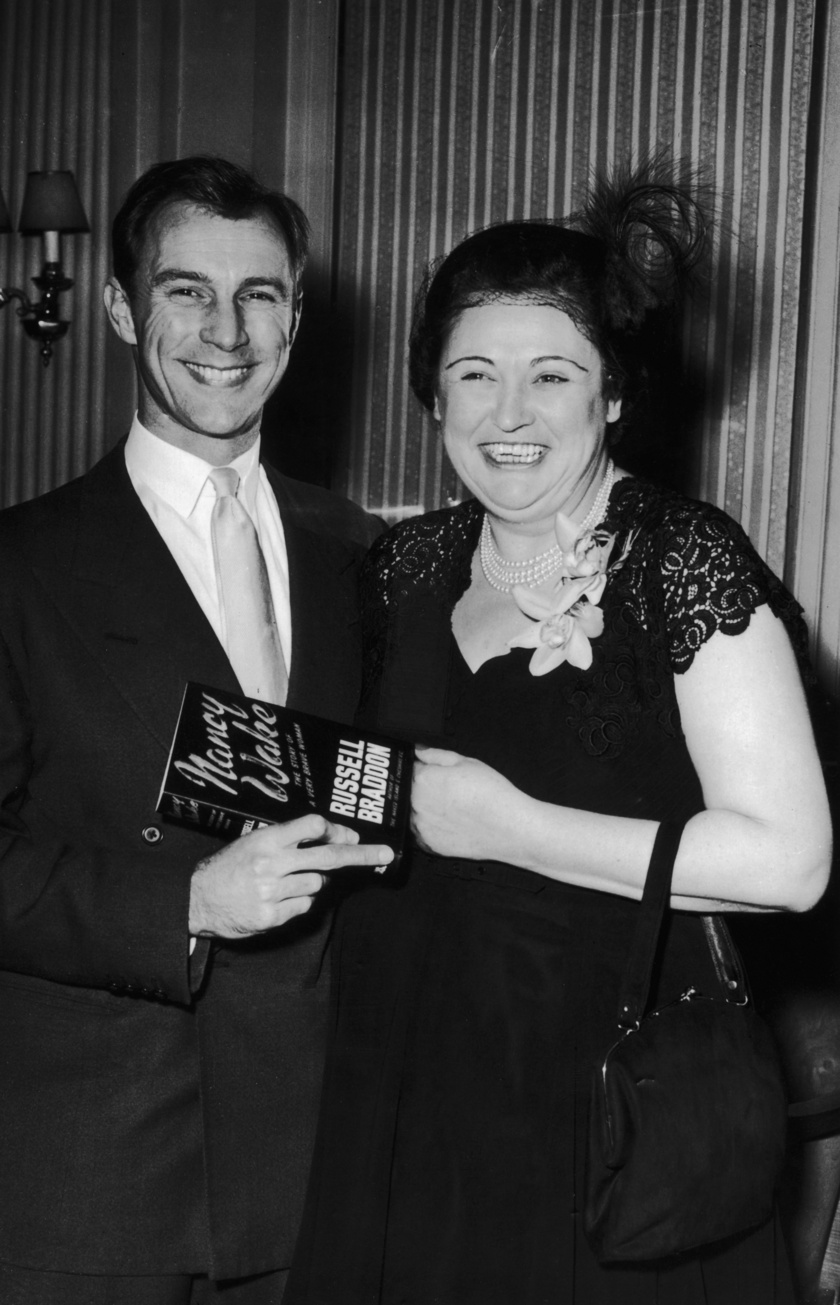 Nancy Wake Russell Braddon íróval 1956-ban.
