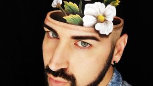 Háromdimenziós sminkekkel nyűgözi le az Instagramot ez az olasz férfi