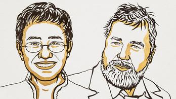 Fülöp-szigeteki és orosz újságíró kapta a 2021-es Nobel-békedíjat