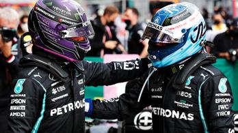 Hamilton büntetése után Bottasé a pole Isztambulban