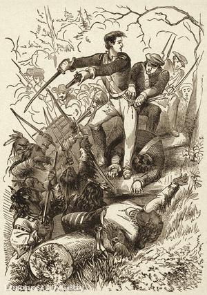 Sam Houston küzd a krík törzs harcosai ellen