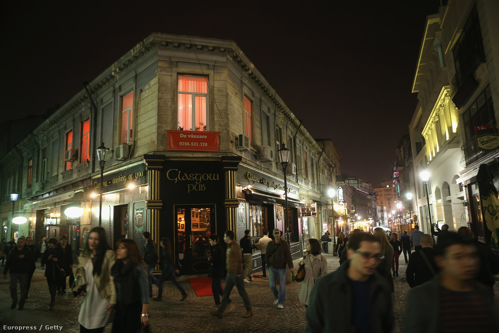 A hangulatos utcáiról ismert Lipscani kerület Bukarestben.