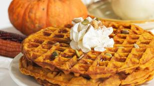 Ezzel az őszi pumpkin spice gofrival várd haza a gyerekedet!