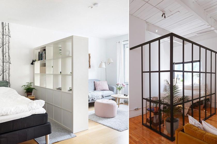 Így lehet hálód és nappalid is egy aprócska garzonban: 8 mutatós megoldás a tér kettéosztására