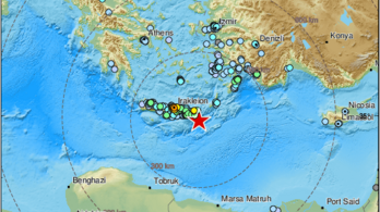 Erős földrengés rázta meg Kréta szigetét