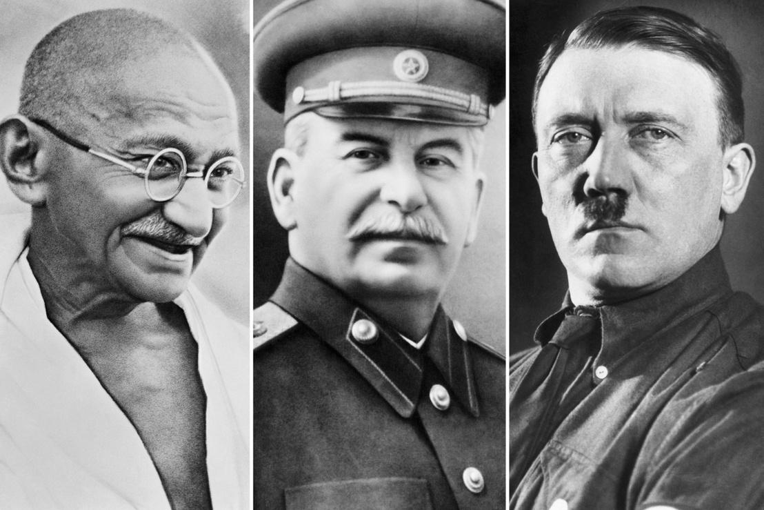 Mahatma Gandhi, Joszif Sztálin és Adolf Hitler