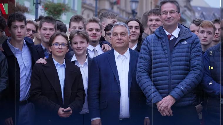 Orbán Viktor már távozott volna, de nem engedte a tömeg