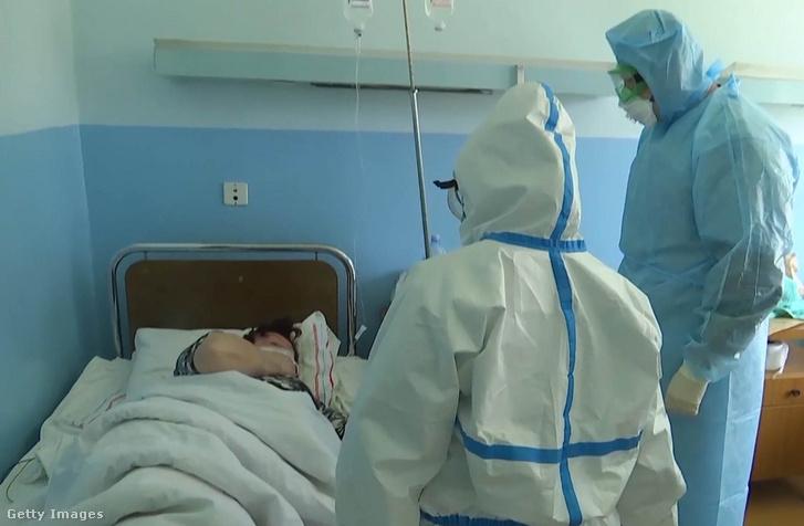 Egy szerbiai kórház koronavírusrészlege 2020. április 9-én
