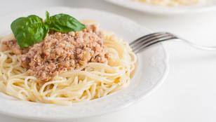 Gyors ebéd: vargányás, húsos tészta tejszínesen