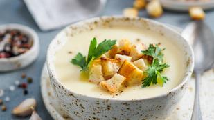 Gyors karfiolleves füstölt sajttal: egyszerű recept vacsorára