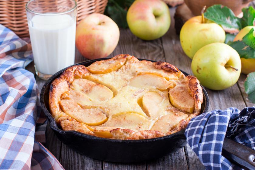 Óriási almás palacsinta fahéjjal megszórva: a dutch baby jól bevált receptje