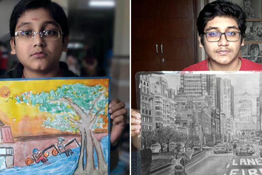 Alig tudott rajzolni, ma már remekműveket készít: 6 előtte-utána kép a szívmelengető fejlődésről