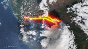 Már repülőjáratokat kell törölni a La Palma-i vulkánkitörés miatt