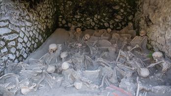 A Vezúv egyik áldozatára bukkantak Herculaneum egykori tengerpartján