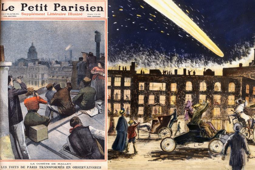 Üstökösfény elleni ernyő és antiüstökös-tabletta is került a boltokba 1910-ben: a Halley érkezésétől rettegett mindenki