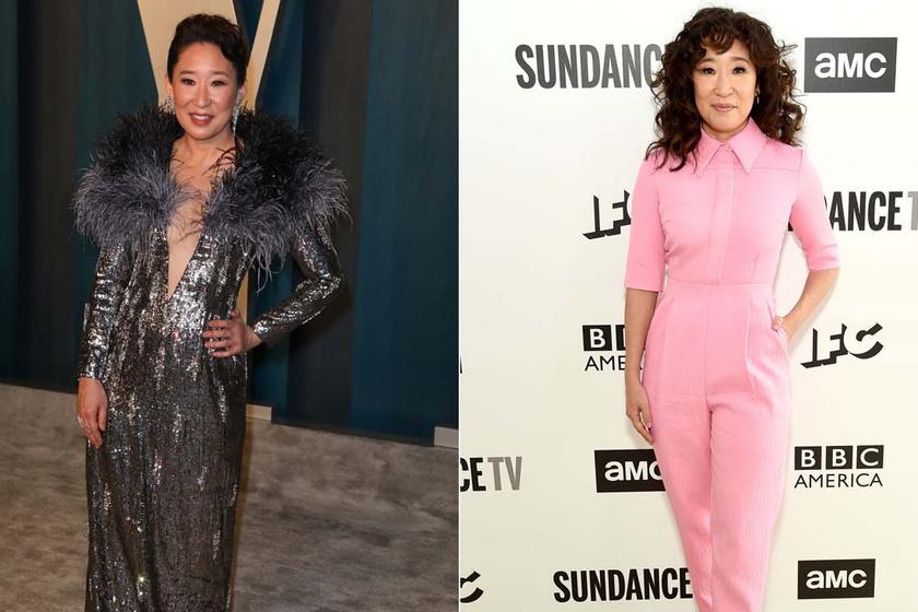 A Grace klinika Cristinája mindig rendkívül nőies: az 50 éves Sandra Oh elegáns, sikkes szettekben hódít