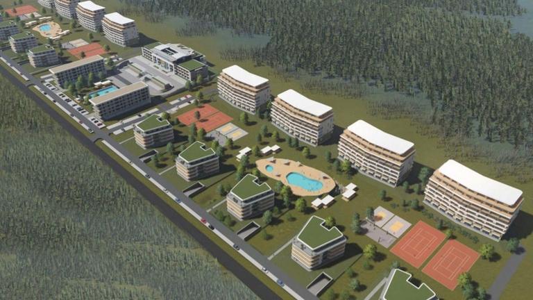 Förmedvényes nagyvárost építenének a Balaton déli partján