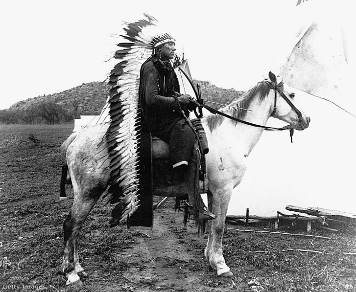 Quannah Parker 1867 -ben a komancs indiánok főnöke