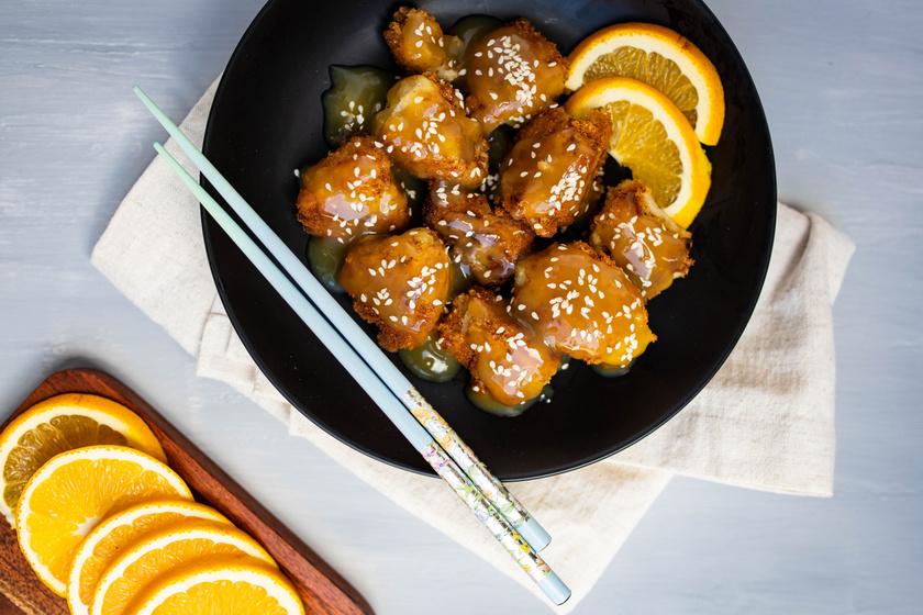 Ragacsos kínai narancsos karfiol: glutén-, tej- és tojásmentesen is isteni