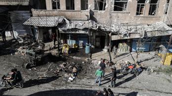 Pokolgépes támadás ért egy katonai buszt Szíriában, 14-en meghaltak