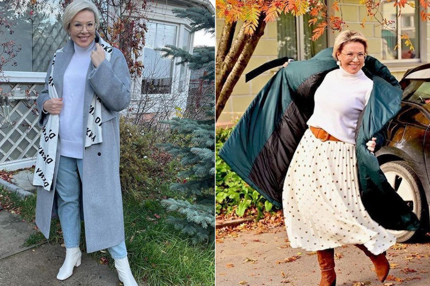 Zseniális szettjeiről posztol az orosz blogger: egyszerű darabokból is extra nőies összeállításokat varázsol