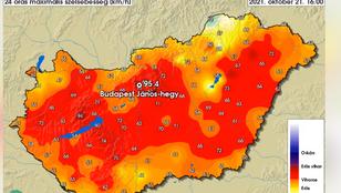 Ez kezd félelmetes lenni, megint megdőlt a szélrekord Budapesten