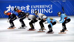 A férfi váltó továbbjutott, a női kiesett a pekingi short track-világkupán