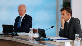 Joe Biden és Emmanuel Macron a biztonságpolitikáról tárgyalt