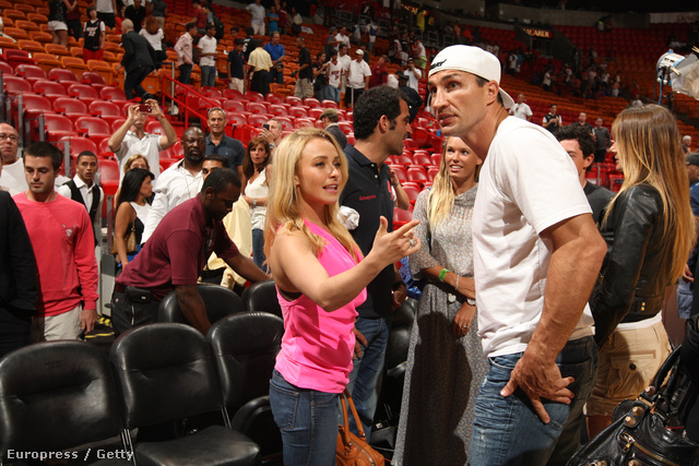 A Miami Heat stadionjában.