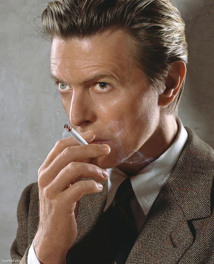Bowie a 2002-es Heathen lemez borítójának fotózásakor.