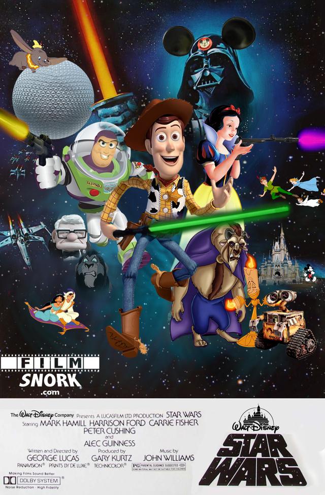 Star Wars Lucas Disney Poster