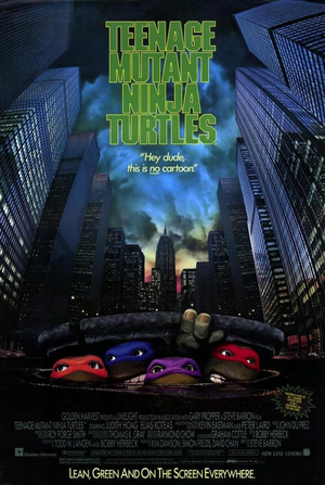 Az eredeti, élőszereplős Tini Nindzsa Harci Teknőcök film posztere