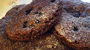 Brownie áfonyás keksz
