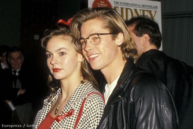 Shalane McCall és Brad Pitt 1988-ban