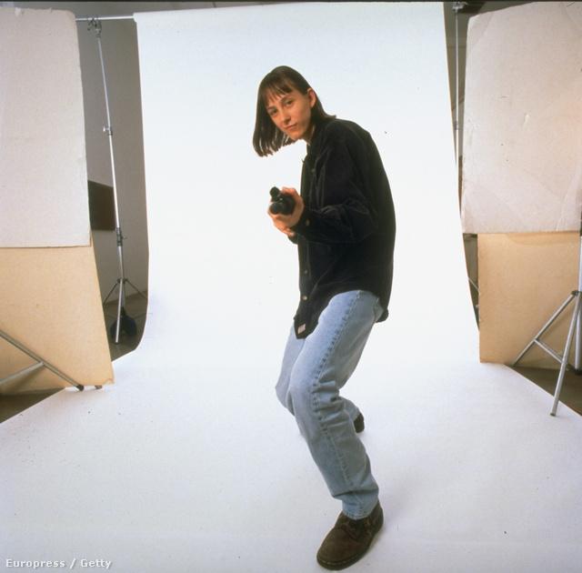 Kornélia a TIME magazin fotózásán, 1997-ben