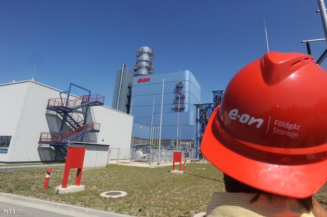 Az E.ON erőműve a Győrhöz közeli Gönyűn.