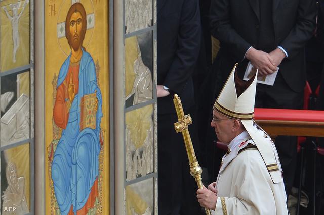 Ferenc pápa első húsvéti szentmiséje