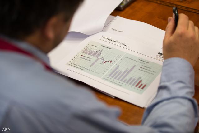 Inflációs adatok egy szlovén bankár papírjain
