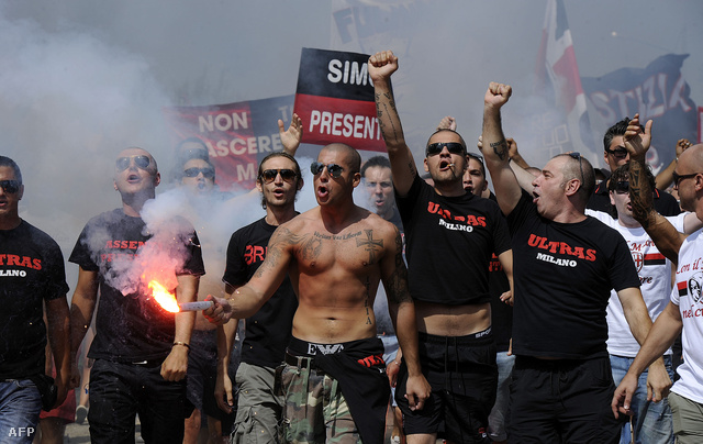 Ac Milan-szurkolók