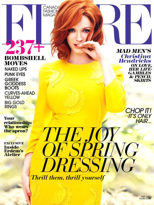A Flare magazin legújabb száma, amin kicsit összementek Hendricks mellei