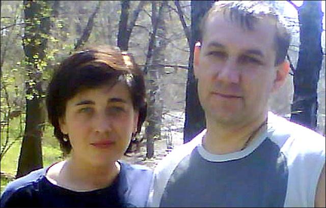 Andrej Kurocskin, az áldozat és felesége Olga