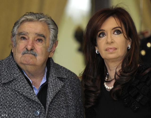 José Mujica és Cristina Fernandez