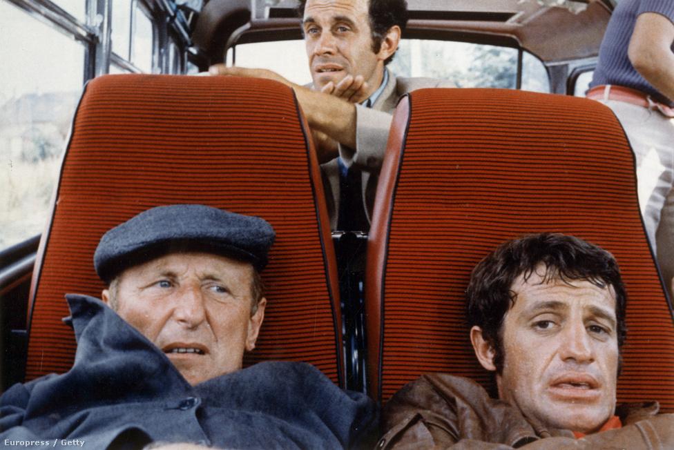 A nagy zsákmány 1969-ből. A hatvanas évek végére Belmondo kicsit visszavett a tempóból, ami azt jelenti, hogy csak négy filmet forgatott egy év alatt. A nagy zsákmány a Londonba tartó postavonat kirablásáról szól.