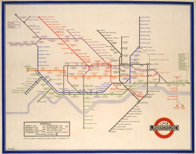 London metrótérképe, 1933