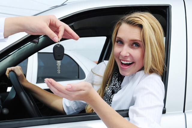 car key woman driver female