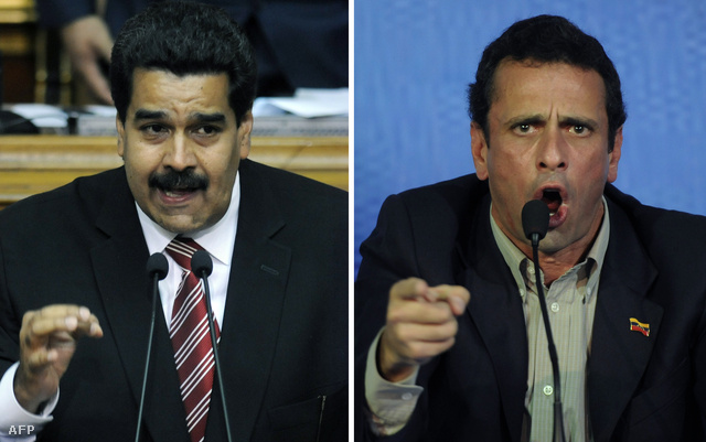 Nicholas Maduro és Henrique Capriles a két esélyes