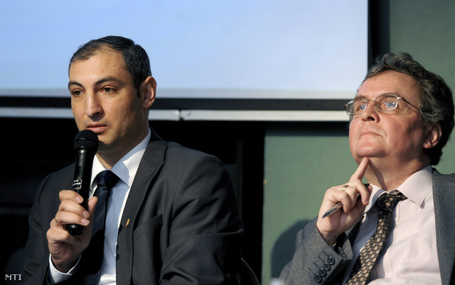 Sztojka Attila az EMMI Társadalmi Felzárkózásért Felelős Államtitkárságának főosztályvezetője és Németh György szociológus-közgazdász