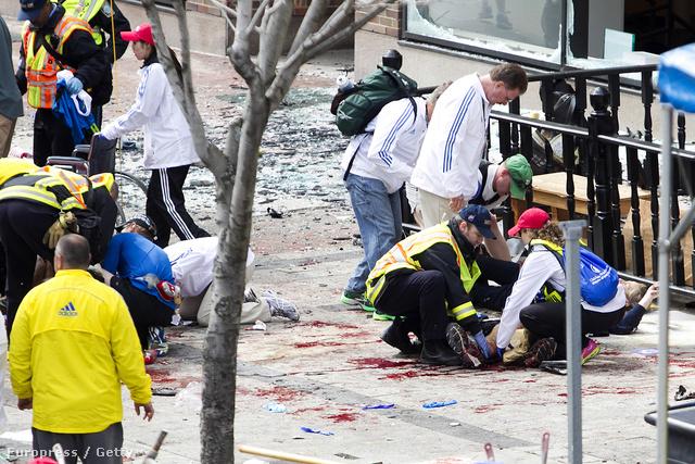 A bostoni robbantás helyszíne
